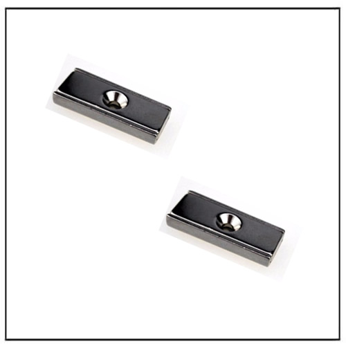 countersunk rectangle channel magnet