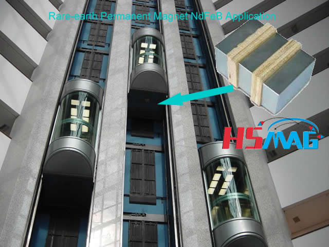 rare-earth-permanent-magnet-ndfeb-application-elevator-motor