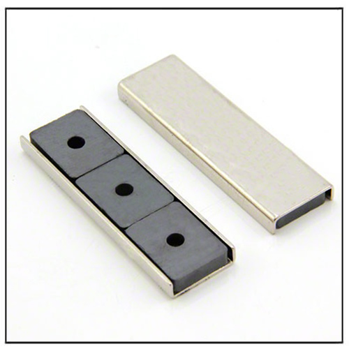 rectangular ceramic channel magnet