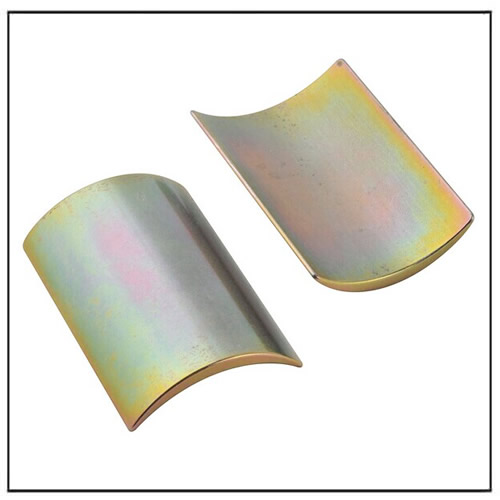 35SH Arc Color Zinc Coated NdFeB Magnet