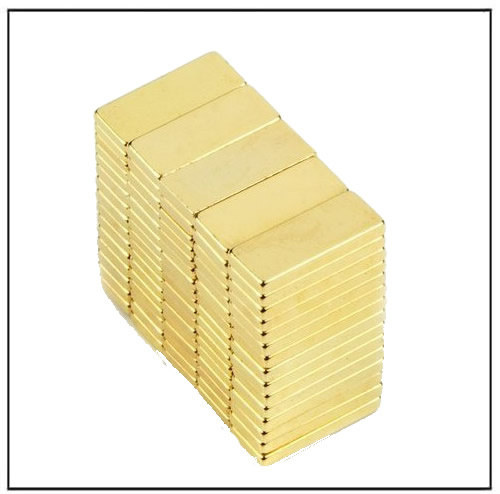 Block Gold Coated Neodymium Iron Boron