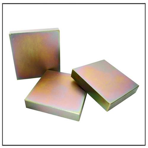 Color Zinc Plating Neodymium Block Magnet