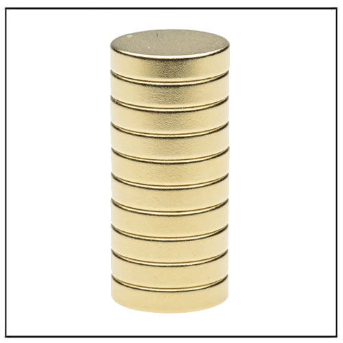 Golden Plating NdFeB Magnet Disc