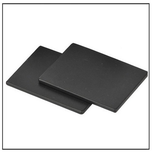 Square Plate Black Epoxy Coating Magnets