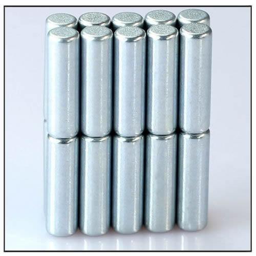 Zinc Coating Neodymium Rod Magnets