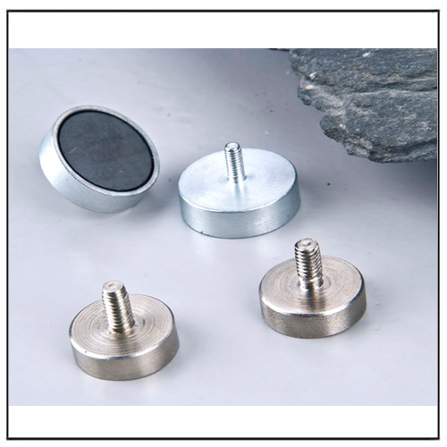 External Thread Ferrite Holding Pot Magnets