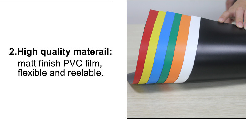 A4 Colorful Soft Magnetic Sheet 2 pvc film