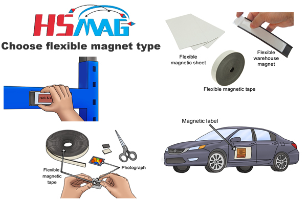 Choose flexible magnet type