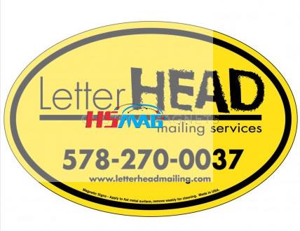 Custom Magnetic Oval Bumper Sticker