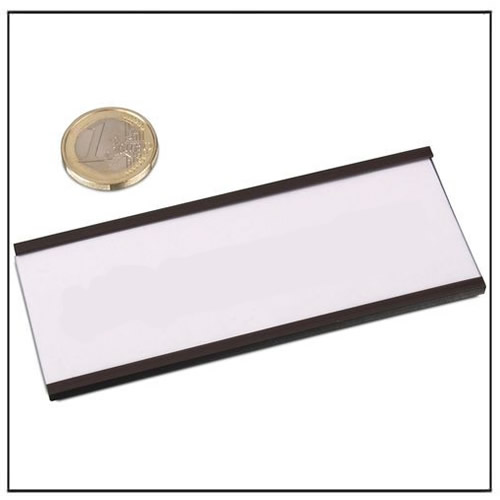 Magnetic C Profile Label 100 x 40 mm
