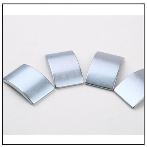 Zinc Plated Arc Neodymium Magnets