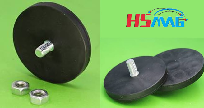 Rubber Coated Neodymium Magnetic Assembly Magnets By Hsmag