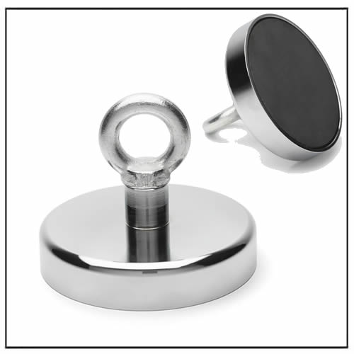 Strong Ferrite M14 Eyelet Pot Magnet 150KG