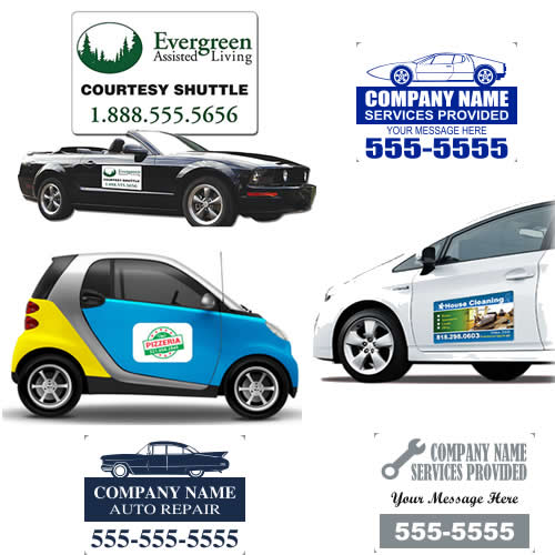 Advertising Magnetic Panels Car Signs