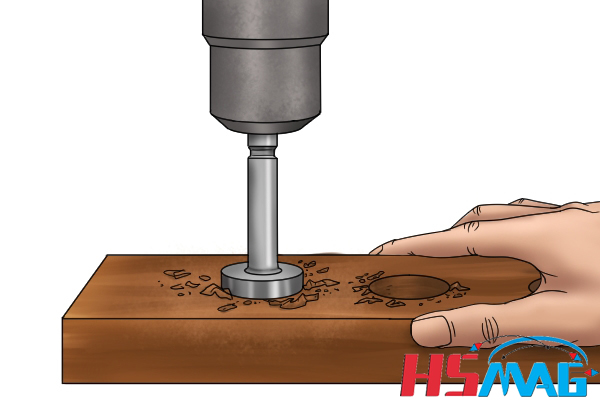 Drill hole countersunk magnetic ring