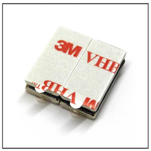 N35 20x10x2mm Adhesive Block Neodymium Magnet
