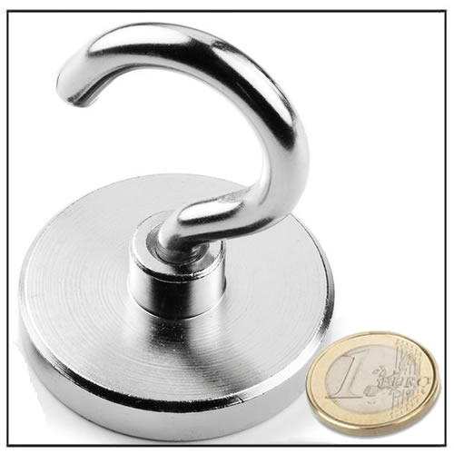 Powerful Neodymium Mounting Hook Magnet 102kg Magnets By