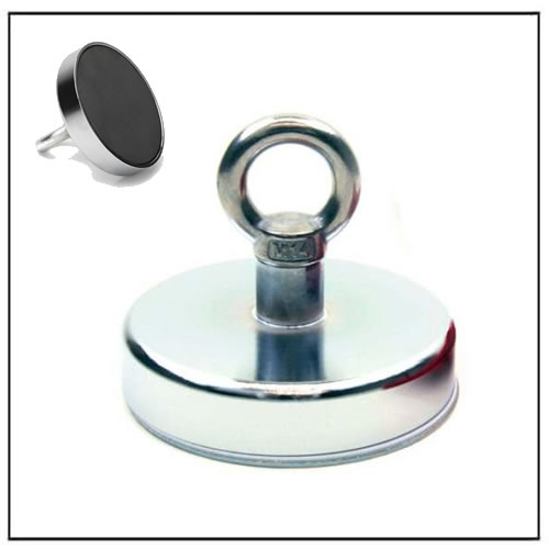 River Fishing Recovery Magnet with M14 Eyebolt