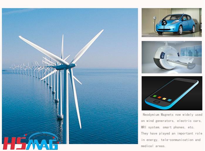 Main NdFeB Magnet Application Motor MRI Wind Power