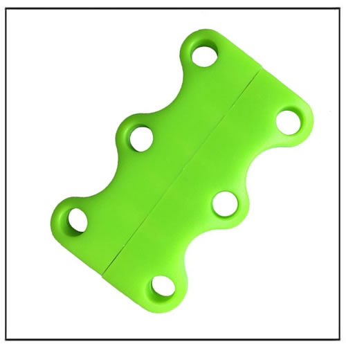 Dark Green Magnetic No-Tie Shoelace Buckles