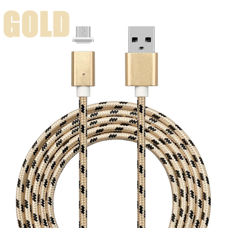 Golden Magnetic Micro USB Charging Cable