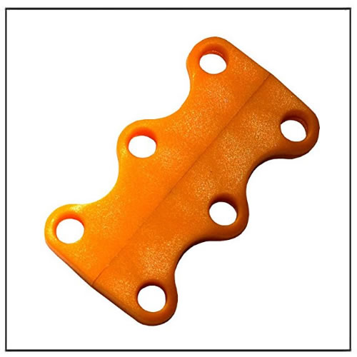 Orange No-Tie Magnetic Casual Shoelace