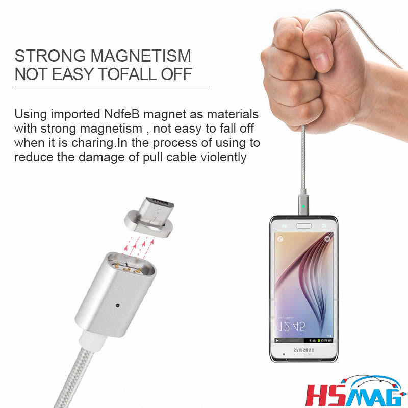 Quick Magnetic Strong Braided Micro USB Charger