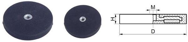 Rubber Coated Magnetic Base Dimension