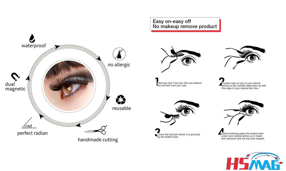How Magnetic Eyelashes Work