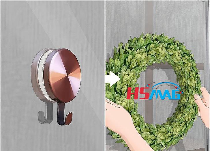 Applying Wreath-Hanging Magnets