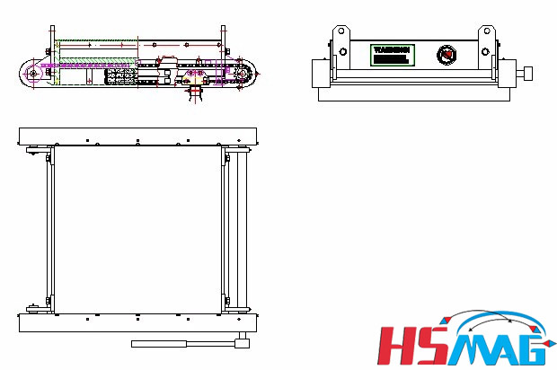 Manual Cleaning Magnetic Separator Drawing