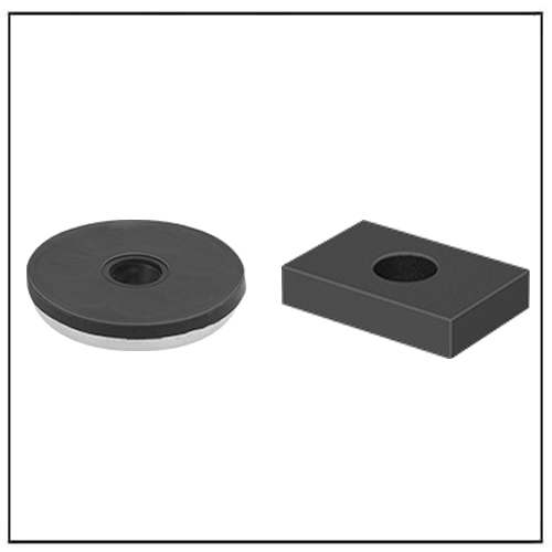 Nonmarring Neodymium Rubber Encased Magnets with Unthreaded Hole
