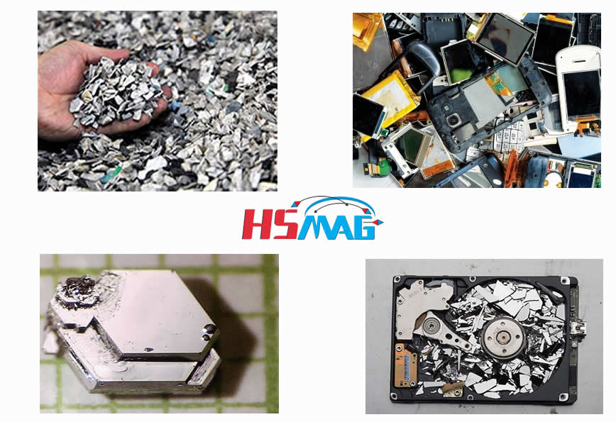 Recycle rare-earth elements and magnets