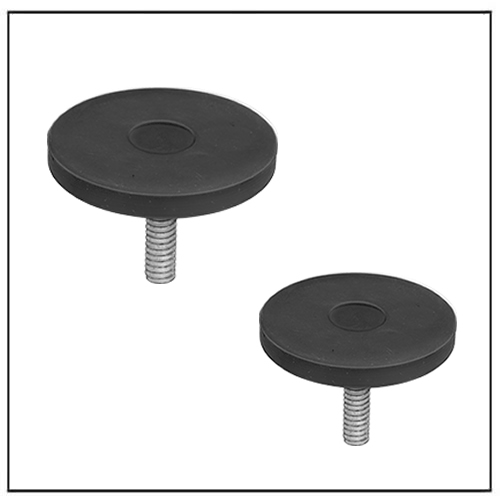 Rubber Encased Nonmarring Neodymium Magnets with Threaded Stud
