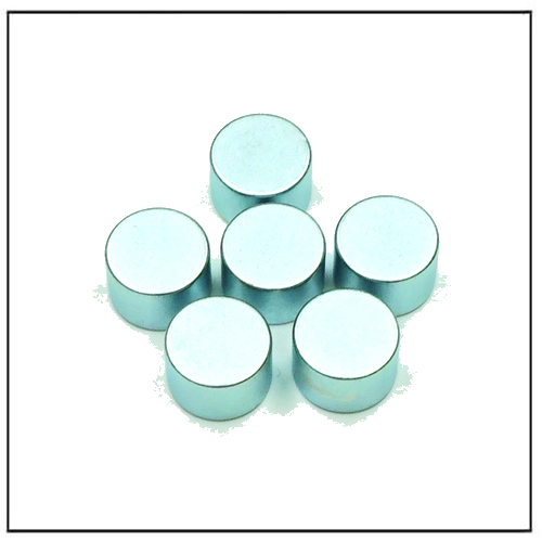 Quadrapolar Magnet Disc N30AH Zn Coating