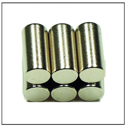 Sintered Neodymium-Iron-Boron Rod Magnets Magnetized Through Thickness
