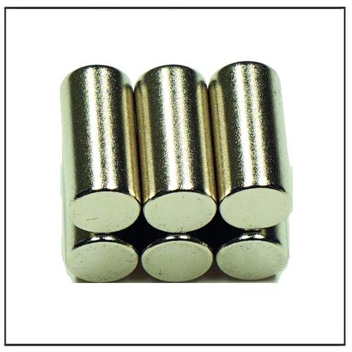 Sintered Neodymium-Iron-Boron Rod Magnets Magnetized Through Thickness