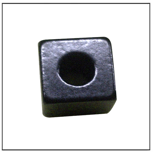 Personalized NdFeB Magnet Cube w Black Epoxy Coating and Hole
