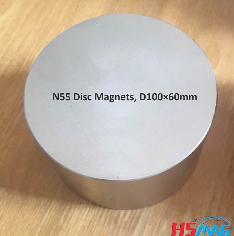 Large N55 Magnets, N55 Disc Magnets, D100×60mm