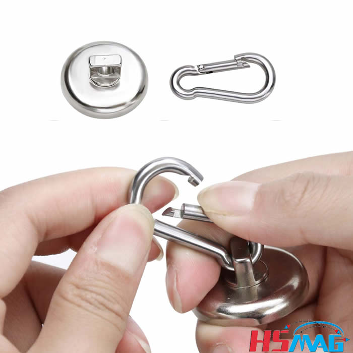 Heavy Duty Neodymium Magnet with Swivel Carabiner Hook