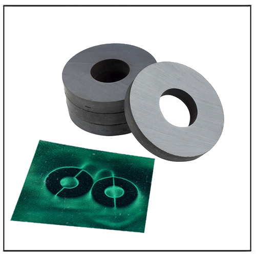 Axial 2-pole Radial Ring Ferrite Magnets for Electric Motor