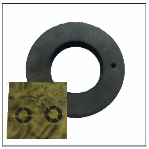 Axial Magnetic Ring Hexapole Ferrite 6-Poles Magnetization for DVD Core