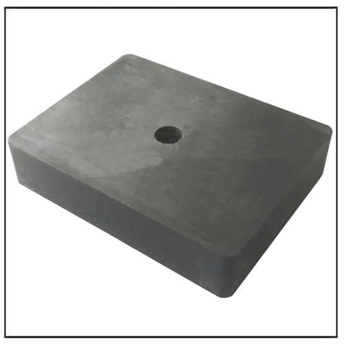 Cheap Chinese Standard Hard Ferrite Block Magnet with Hole Y30BH