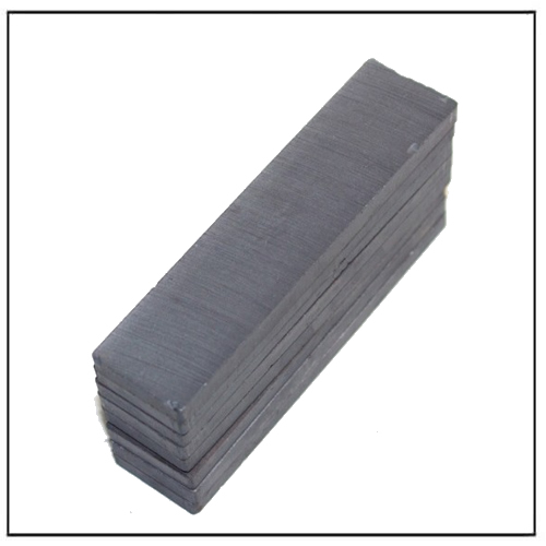 Sintered Ferrite Rectangular Bar Magnets Y30 80x20x5mm