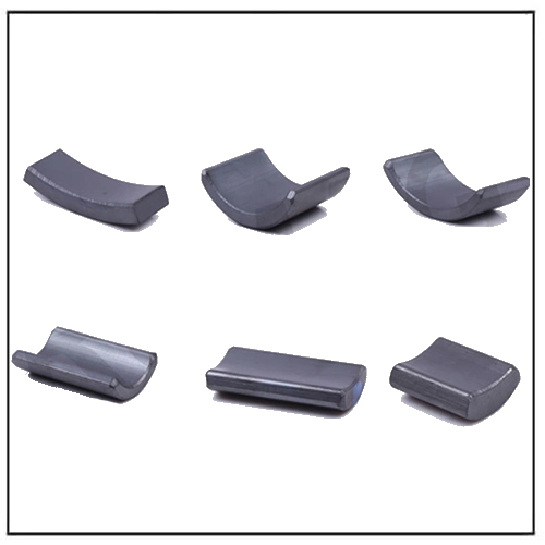 Strong Anisotropic Ferrite Arc Magnets for Fuel Pump Motor