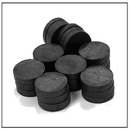 Bulk Round Disc Ferrite Magnets for Crafts, Science, Hobbies