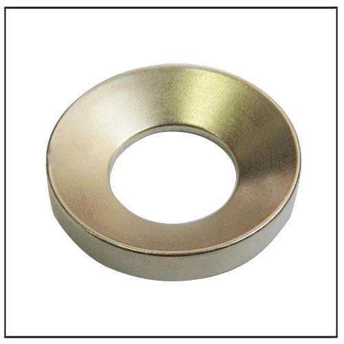 Custom Powerful Neodymium Countersunk Hole Ring Magnet N42