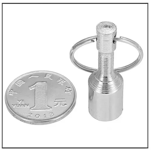 N38 12mm Neodymium Magnet Pocket Key Chain Keyring Holders