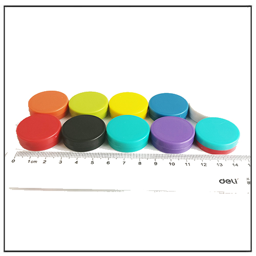 Assorted Colors Waterproof Round Magnetic Permanent Office Memo Magnets