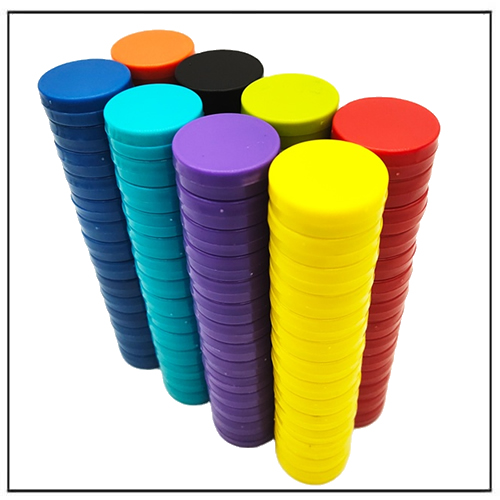 Colored Round ABS Plastic Office Whiteboard Memo Magnets